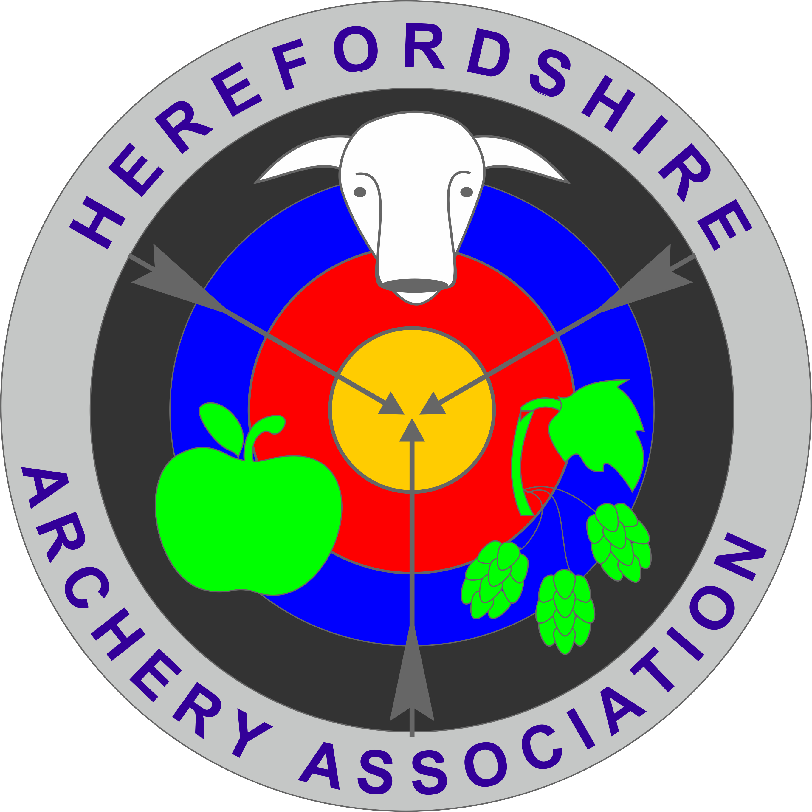 HAA County Matters - association logo with apple, hops and bulls head set on a target face with 3 arrows meeting in the middle